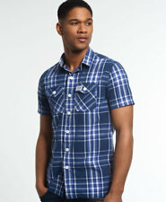 Superdry Hombre Camisa de manga corta Washbasket Electric Navy Window