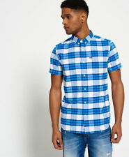 Superdry Hombre Camisa Ultimate University Oxford Campus Azul Check