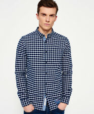 Superdry Hombre Camisa Ultimate Pinpoint Oxford Templeton Navy Check