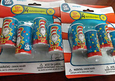 Lot of 2 New Pkgs 8 Dr Seuss Cat In The Hat Kaleidoscopes Party Supplies Favors