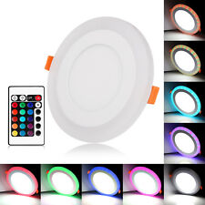 Dual Color LED Panel Recessed Ceiling Round White+RGB Down Light Spotlights ES