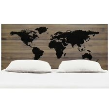 Cabecero  para dormitorio World Map en Madera de Pino Gallego