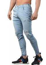 Sik Silk Jeans - Mens 12464 Jagged Hem Jeans in Light Stone Wash