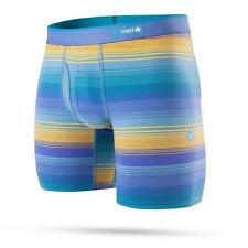 """STANCE MENS BOXER SHORTS.NEW NEVERMIND STRIPED 7"""" FLY TRUNKS BRIEF UNDERWEAR 8S1"""