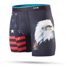 """STANCE MENS BOXER SHORTS.NEW BOXED SAMMY EAGLE 7"""" FLY TRUNKS BRIEF UNDERWEAR 8S1"""