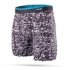 """STANCE MENS BOXER SHORTS.NEW PHIL FROST BLACK 7"""" FLY TRUNKS BRIEF UNDERWEAR 8S1"""