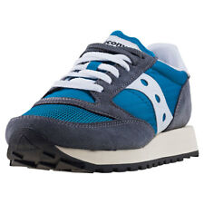 Saucony Jazz Original Vintage Womens Grey Suede & Mesh Casual Trainers Lace-up
