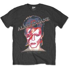 OFFICIAL LICENSED - DAVID BOWIE - ALADDIN SANE T SHIRT ROCK Ziggy GLAMOUR