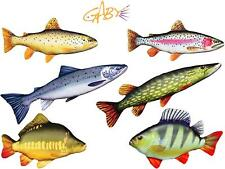 Gaby Novelty Fish Pillow/Cushion**Carp, Brown Rainbow Trout Perch, Pike, Salmon