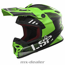 LS2 LS 2 MX 456 hpfc MX CASCO DA CROSS ENDURO MOTOCROSS RALLY Verde BMX DH LUCE