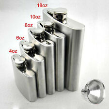 Stainless Steel Pocket Hip BOTTLE FLASK Liquor VODKA Whiskey.Alcohol holde RAS