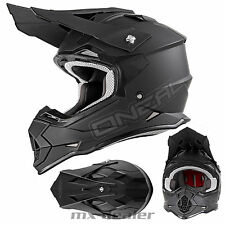 O'NEAL 2Series RL FLAT NERO OPACO CASCO CROSS CASCO MX motocross cross enduro