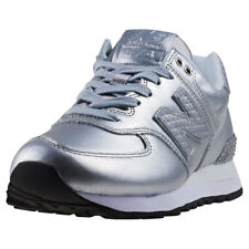 New Balance Wl574 Glitter Punk Womens Silver Synthetic Casual Trainers Lace-up