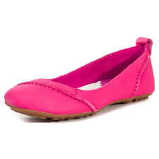 Hush Puppies Janessa Womens Pink Leather Casual Ballerinas Slip-on New Style
