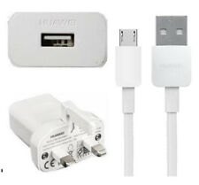 Genuine Huawei Mains Charger+Huawei Micro USB Data Fast Cable For Huawei Phones
