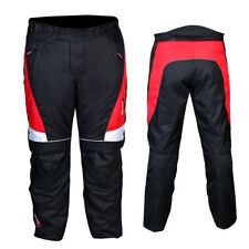 Motorbike Trouser ADVENTURE Adult Motorcycle Mens Touring Sports Trousers Red