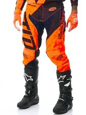 Pantaloni motocross Troy Lee Designs 2017 GP Air Quest Fluorescent Arancio-Blu S