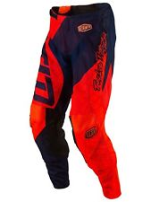 Pantaloni MX Bambino Troy Lee Designs 2017 GP Quest Fluorescent Arancio-Blu Scur