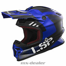 LS2 LS 2 MX 456 hpfc MX CASCO DA CROSS ENDURO MOTOCROSS RALLY BLU BMX DH LUCE