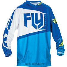 Fly Racing f-16 Azul Blanco JERSEY MAILLOT MX Motocross Enduro Quad MTB BMX