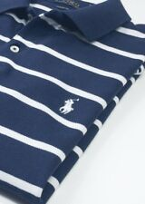 Ralph Lauren Blue / White Stripe Classic  Fit Vintage Polo Shirt