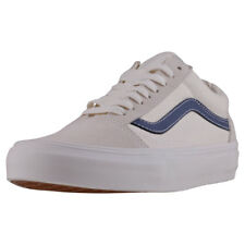 Vans Old Skool Vintage Womens White Suede & Canvas Casual Trainers Lace-up