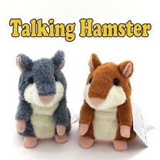 Talking Hamster Plush Toy Talking Sound Record Educational Talking for Baby