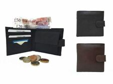 Mens Luxury Soft Quality Leather Wallet Credit Card Holder Purse Black/Brown