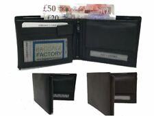 Mens New Luxury Soft Quality Leather Wallet Credit Card Holder Purse Black/Brown