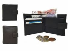 Mens New Luxury Soft Real Leather Wallet Credit Card Holder Purse 2 Colours