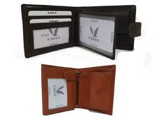 Mens New Eagle Luxury Soft Quality Leather Wallet Credit Card Holder Brown/Tan