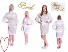 Bride kimono bridesmaids silk satin wedding robe gown accessories team bride