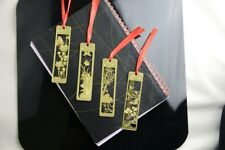 Chinese Traditional Flowers Gold Metal Cute Floral Bookmarks Book Markers Gift