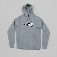 New Nike SB Icon Banner Pullover Hoodie Hood Heather Grey Size L