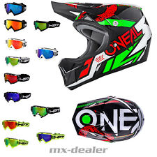 ONEAL SONUS STRIKE VERDE ROSSO dh bmx mountainbike Casco MTB FREERIDE HP7