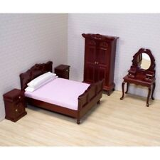 Dolls House Bedroom Furniture Set Wooden Wardrobe 12th Miniature Victorian Play