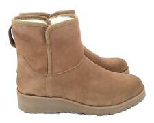 Ugg Classic Slim Collection Kristin Suede Chestnut Short Wedge Women's Boots