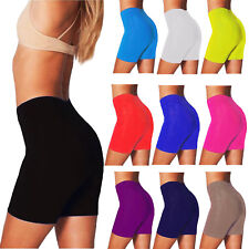 LADIES WOMEN'S CYCLING SHORTS DANCING SHORTS LYCRA LEGGINGS ACTIVE CASUAL S-XXL