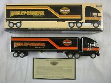 Harley Davidson Motorcycle Tractor Trailer Truck Locking Coin Bank 1:64 Scale