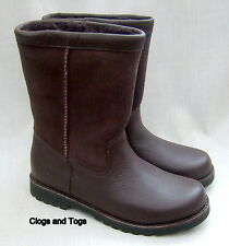 NEW UGG AUSTRALIA RIVERTON WOMENS BROWN LEATHER / SUEDE SHEEPSKIN BOOTS