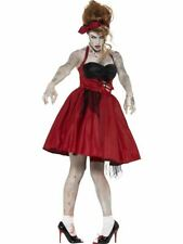 donne adulti ANNI 50 VINTAGE Zombie ROCKABILLY Ragazza Costume Halloween