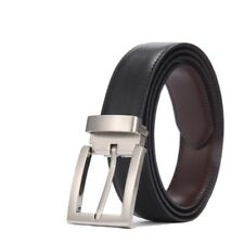 High Quality Male Genuine Leather Strap Belt Buckle Reversible Buckle