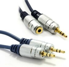 OFC 3.5mm Jack to Jack Aux Audio Cable Male to Female Extension Auxiliary Lead