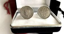 THE YEAR TO CELEBRATE. SILVER SIXPENCE COINS IN CUFFLINKS. ALL YEARS 1928 -1967