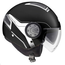 GIVI CASCO AIR JET 11.1 NEGRO MATE MOTO SCOOTER HELMET MATT BLACK DOBLE VISERA