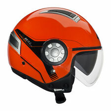 GIVI CASCO AIR JET 11.1 ROJO FLUO MOTO SCOOTER HELMET RED DOBLE VISERA