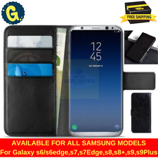 Samsung Galaxy s8 s9 Plus s6 s5 s7 Edge Case Leather 360 Wallet Case Book Cover