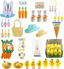 Easter Party Bunny Hat Carrots Yellow Chicks Glitter Eggs 3D Sticker Accessories