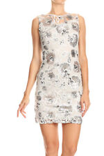 Sexy Womens Slim Floral Sequin Embroidered Lace Cocktail Sheath Pencil Dress