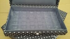 NEW Hobby Gift-Small-Grey/White Mini Polka Dot Design Machine Bobbin Storage Box